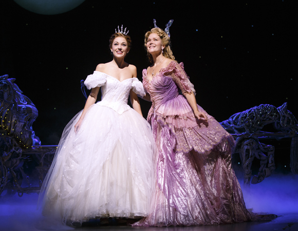 Laura Osnes and Rebecca Luker share the stage.