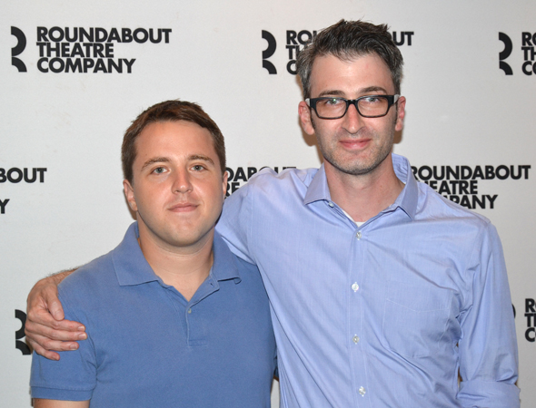 Joshua Harmon (left) is the playwright of <i>Bad Jews</i>, and Daniel Aukin (right) serves as director.<br />(© David Gordon)