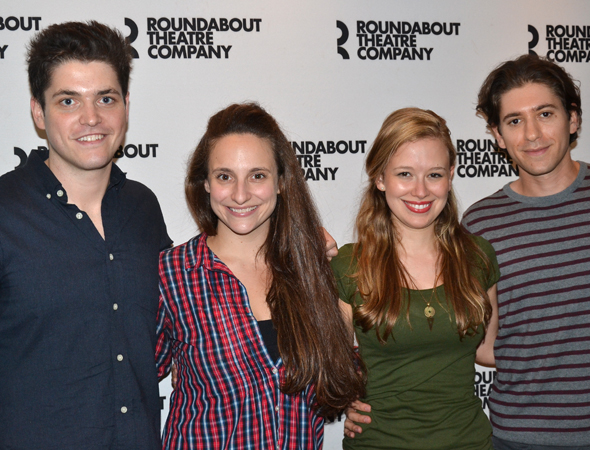 The cast of <i>Bad Jews</i>: Philip Ettinger, Tracee Chimo, Molly Ranson, and Michael Zegen.<br />(© David Gordon)