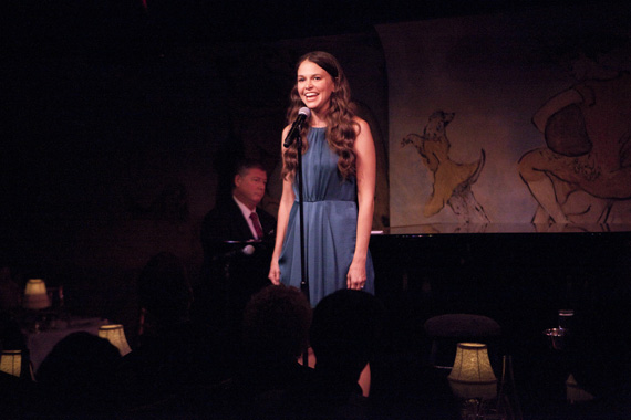 Michael Rafter and Sutton Foster at Café Carlyle.