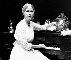 Julie Harris in <i>The Belle of Amherst</i> in London.
