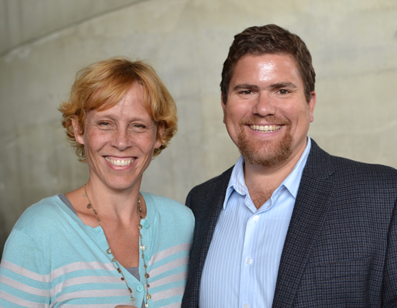 Director Lucie Tiberghien with Arena Stage's Director of Artistic Programming David Snider.<br />(© Arena Stage)