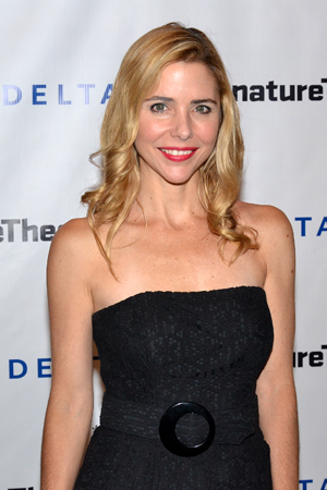 Kerry Butler is thrilled to support Michael Wilson, her director in <i>The Best Man</i>, on his latest opening night.<br />(© David Gordon)