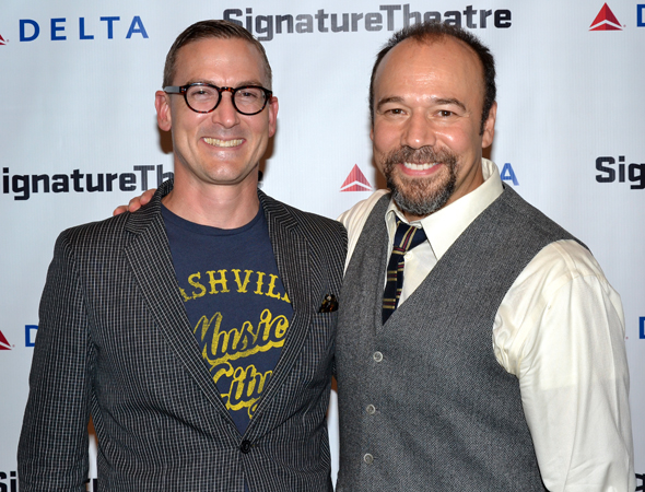 The gentlemen of Broadway's <i>The Snow Geese</i>: playwright Sharr White and actor Danny Burstein.<br />(© David Gordon)