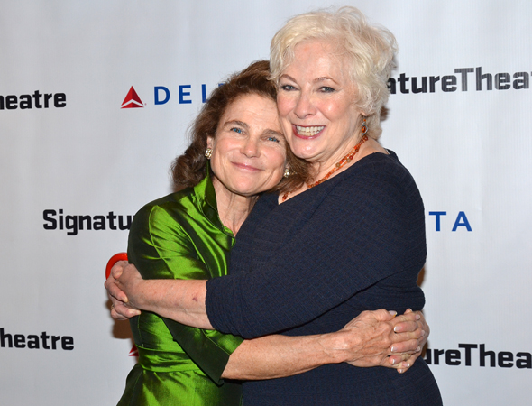 Tovah Feldshuh snuggles up to her dear friend Betty Buckley.<br />(© David Gordon)
