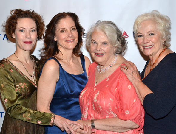 The ladies of <i>The Old Friends</i>: Veanne Cox, Hallie Foote, Lois Smith, and Betty Buckley.<br />(© David Gordon)