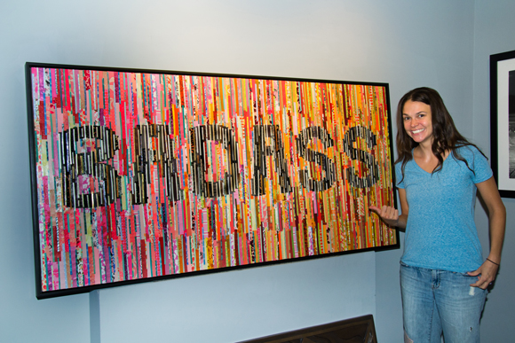 Sutton Foster with one of her original works.