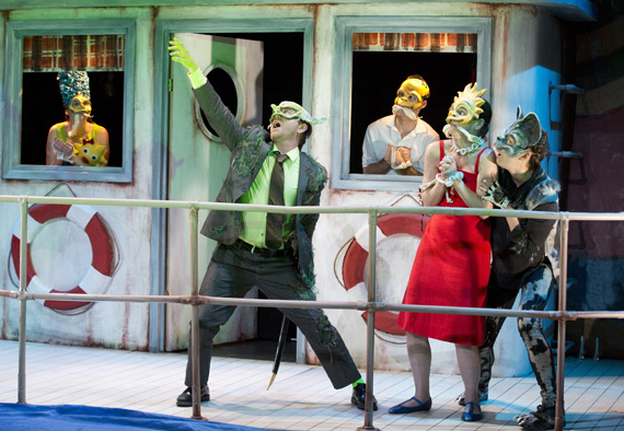Jennifer R. Morris, Sam Breslin Wright, Gibson Frazier, Colleen Werthmann, and Susannah Flood in <I>Mr. Burns, A Post-Electric Play</I>