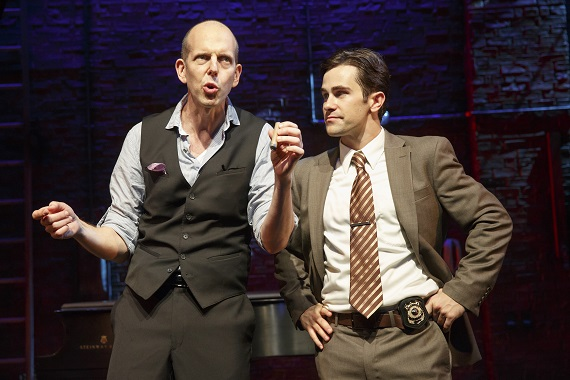 Jeff Blumenkrantz and Brett Ryback in <i>Murder for Two</i>.