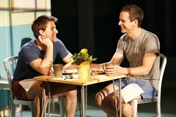 Patrick Heusinger with Patrick Breen on Broadway in <i>Next Fall</i>.