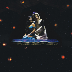 Courtney  Reed and Adam Jacobs as Jasmine and Aladdin in <i>Aladdin</i>