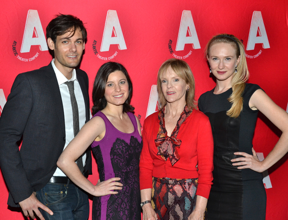 The cast of <i>Women or Nothing</i>: Robert Beitzel, Susan Pourfar, Deborah Rush, and Halley Feiffer.