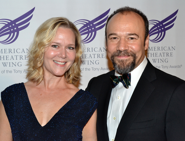 Broadway couple Rebecca Luker and Danny Burstein come out to honor a legendary director.<br />(© David Gordon)