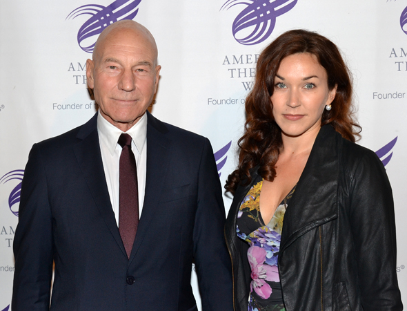 Patrick Stewart and Sunny Ozell are in attendance at the evening's gala.<br />(© David Gordon)