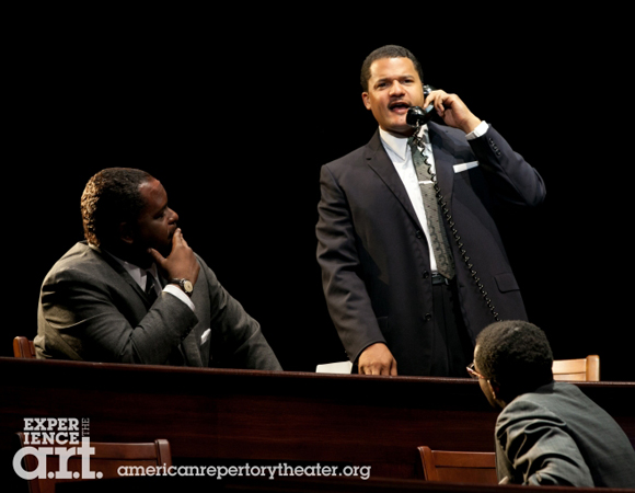Brandon J. Dirden (center) as Dr. Martin Luther King, Jr.<br />(© Evgenia Eliseeva)