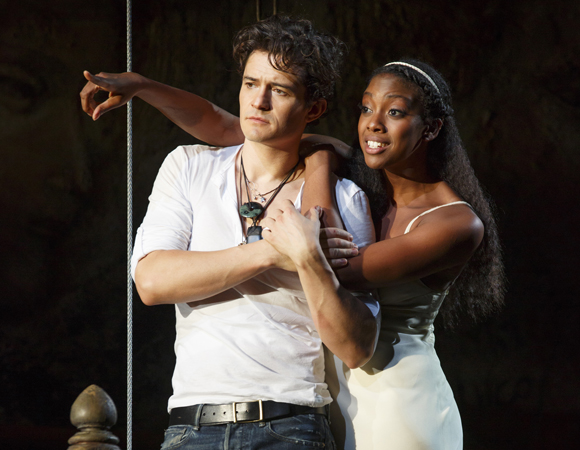 Orlando Bloom and Condola Rashad in <i>Romeo and Juliet</i>