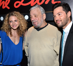 Lauren Molina, Stephen Sondheim, and Jason Tam