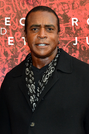 Sportscaster Ahmad Rashad is on hand to support his daughter, <i>Romeo and Juliet</i> star Condola Rashad.<br />(© David Gordon)