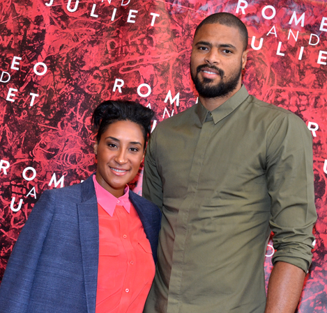 <i>The Trip to Bountiful</i> producers Kimberly and Tyson Chandler arrive at the Richard Rodgers Theatre.<br />(© David Gordon)