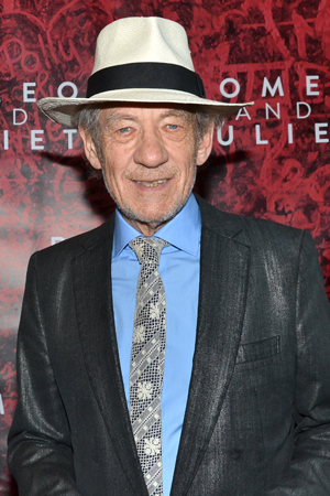 Sir Ian McKellen, about to appear on Broadway in <i>Waiting for Godot</i> and <i>No Man's Land</i>, is ready to cheer on his <i>Lord of the Rings</i> costar, Orlando Bloom.<br />(© David Gordon)