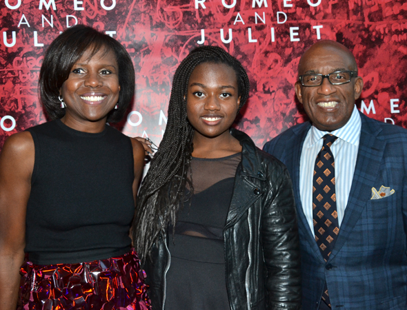 It's a family affair for weathercaster Al Roker, who brought along his wife, newscaster Deborah Roberts, and their daughter Leila, as his dates.<br />(© David Gordon)
