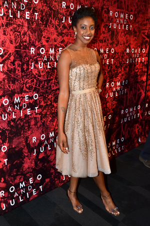 Condola Rashad looks ravishing as she celebrates her first Broadway opening night as a leading lady.<br />(© David Gordon)