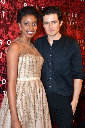 It's Broadway's newest pair of lovers: Condola Rashad and Orlando Bloom.<br />(© David Gordon)