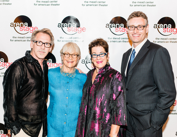 L to R: Cast members Stephen Spinella and Estelle Parsons, Artistic Director Molly Smith, and playwright Eric Coble <br />(© Cameron Whitman Photography)