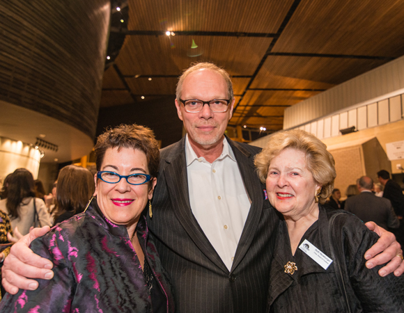 Artistic Director Molly Smith, Executive Producer Edgar Dobie and Board Chair Beth Newburger Schwartz celebrate opening night together.<br />(© Cameron Whitman Photography)