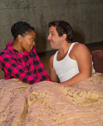 Tracey Farrar and Theo Hadj in <i>The Brazilian Dilemma</i>.
