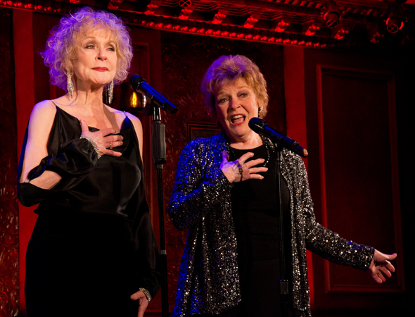 Penny Fuller and Anita Gillette sing the title number from their new show, <i>Sin Twisters</i>.<br />(© David Gordon)