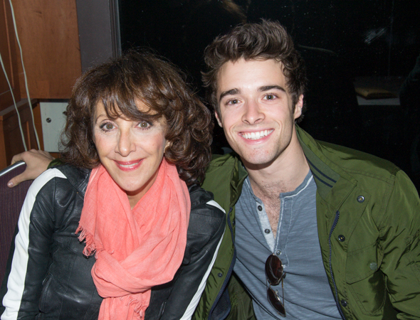 Andrea Martin (<i>Pippin</i>) and Corey Cott (<i>Newsies</i>) are ready to sign autographs.<br />(© David Gordon)