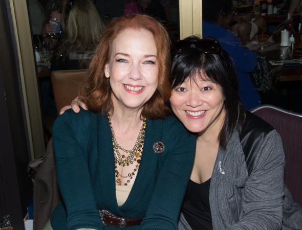 <i>Cinderella</i> stars Harriet Harris and Ann Harada greet fans.<br />(© David Gordon)