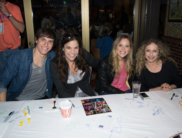 Derek Klena, Lindsay Mendez, Katie Rose Clarke, and Carol Kane make up the <i>Wicked</i> group.<br />(© David Gordon)