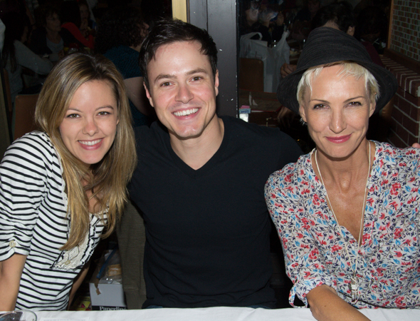 Kate Rockwell and Aaron C. Finley of <i>Rock of Ages</i> with Amra-Faye Wright of <i>Chicago</i><br />(© David Gordon)
