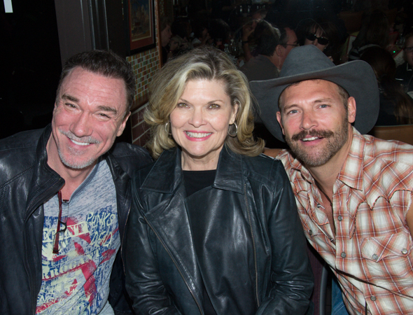 Patrick Page (<i>A Time to Kill</i>), Debra Monk (<i>Cat on a Hot Tin Roof</i>), and Jim Newman (<i>Hands on a Hardbody</i>) smile for the camera.<br />(© David Gordon)