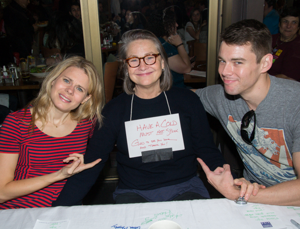 Celia Keenan-Bolger and Brian J. Smith aren't deterred that their <i>Glass Menagerie</i> costar Cherry Jones can't talk.<br />(© David Gordon)
