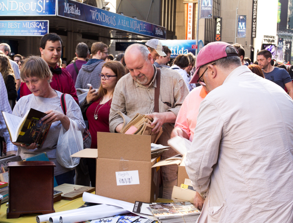 Thousands of old Playbills were available for sale at the Broadway Flea Market.<br />(© Seth Walters)