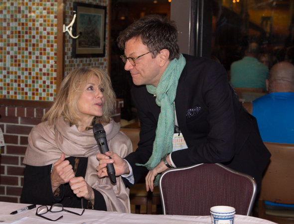 Jim Caruso interviews Judith Light as she awaits her next fan.<br />(© Seth Walters)