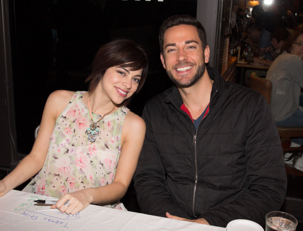 Krysta Rodriguez and Zachary Levi of <i>First Date</i>.<br />(© Seth Walters)