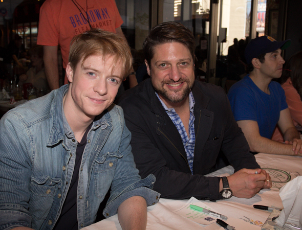 Matthew James Thomas with Christopher Sieber of <i>Pippin</i>.<br />(© Seth Walters)