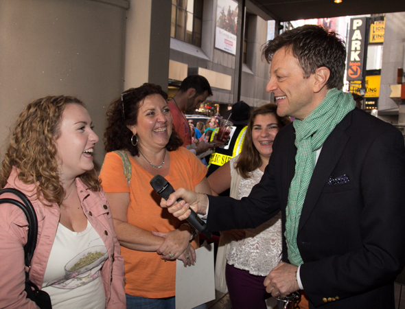 Jim Caruso (<i>Cast Party</i> at Birdland) hosted the autograph table, entertaining the hundreds of fans who waited in line to see their favorite stars.<br />(© Seth Walters)