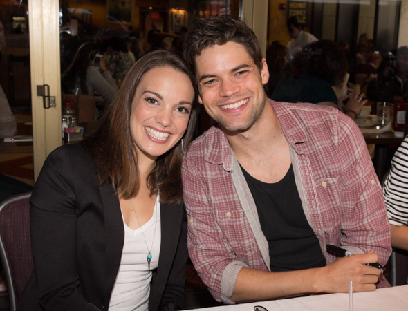 Kara Lindsay and Jeremy Jordan of <i>Newsies</i>. <br />(© Seth Walters)
