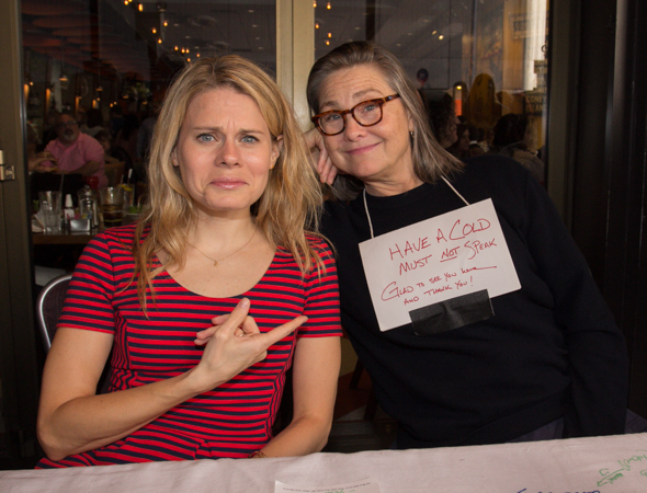 Celia Keenan-Bolger is sad that her <i>Glass Menagerie</i> costar Cherry Jones has a cold.