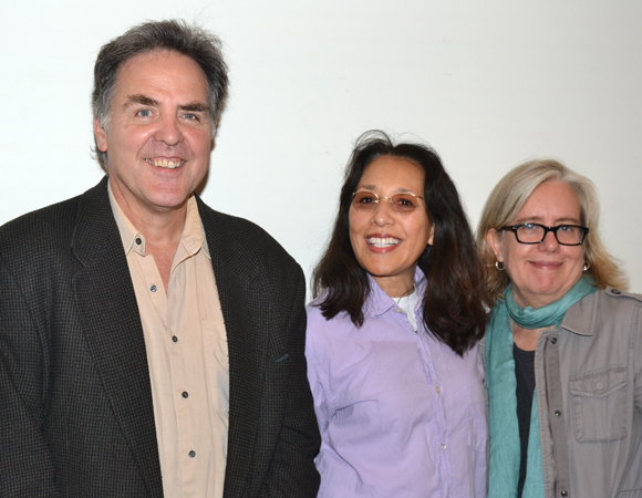 Playwrights Horizons Artistic Director Tim Sanford with playwright Marlane Meyer and director Lisa Peterson.