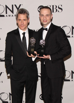 Tony Award-winning playwright Bruce Norris (<I>Clybourne Park</I>) with Jordan Roth.