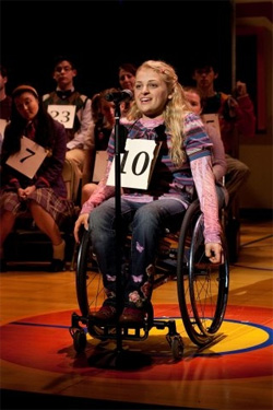 Ali Stroker in The 25th Annual Putnam County Spelling Bee.