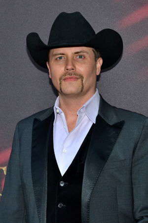 Country music cowboy John Rich rode his horse into the city to see <i>A Time to Kill</i> on Broadway.<br />(© David Gordon)