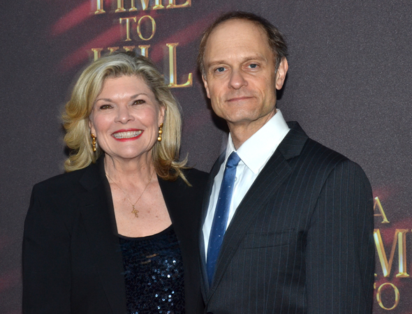 <i>Curtains</i> pals Debra Monk and David Hyde Pierce reunite at the opening of A Time to Kill.<br />(© David Gordon)