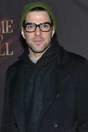 Zachary Quinto arrives at the Golden Theatre following a matinee of his own show, <i>The Glass Menagerie</i>.<br />(© David Gordon)
